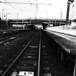 鉄道線路 モノクロ写真